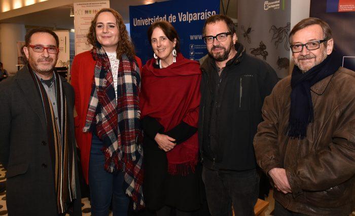 De izquierda a derecha: Juan Carlos García, Alessia Injoque, Kathleen Whitlock, Patricio Fernández y Ramón Latorre